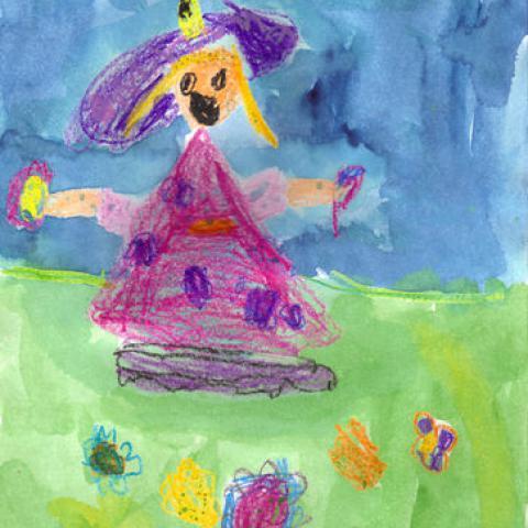 Děti kreslí zahradu